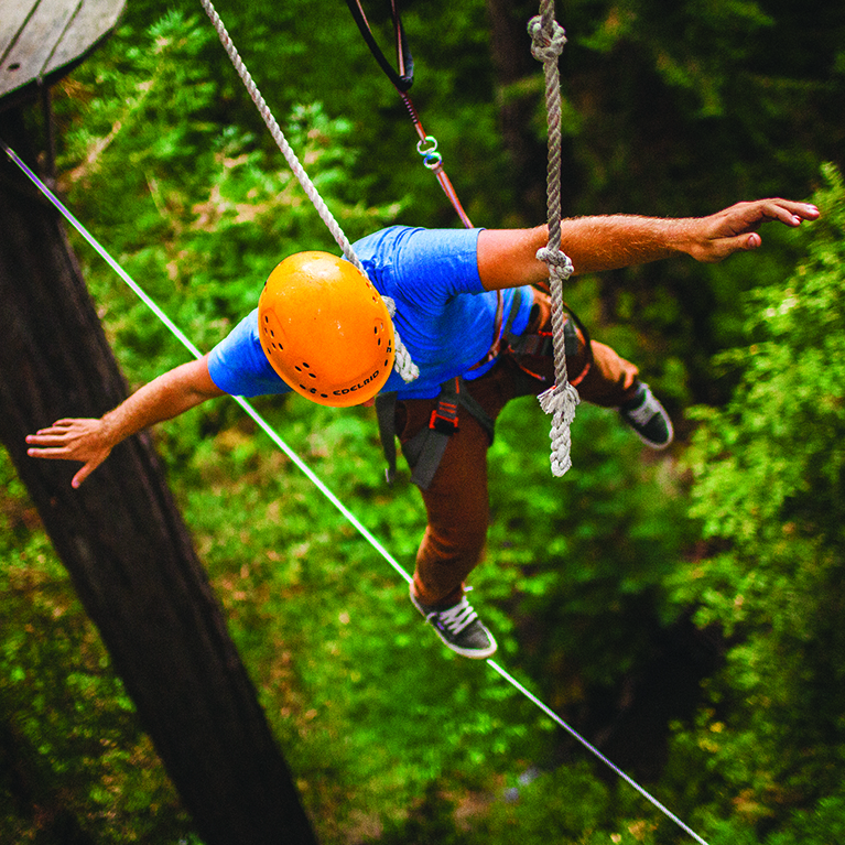 Adventure seekers flock to Mt. Hermon Adventures in Felton to take on new heights on the ropes courses and zip-lining canopy tours.