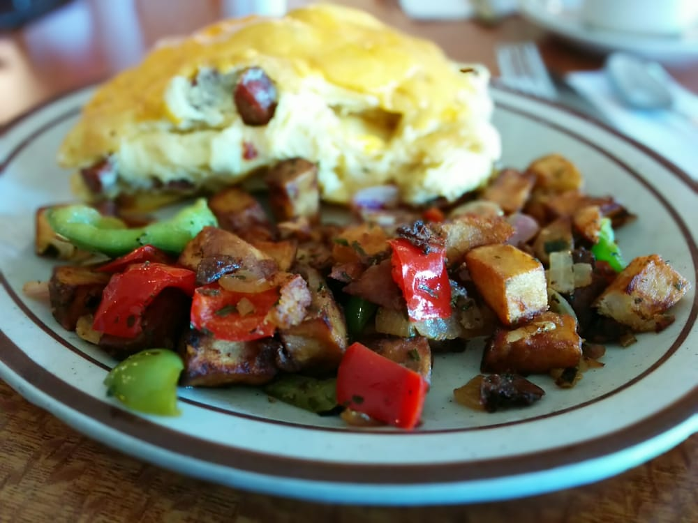 Breakfast Hash & Biscuit