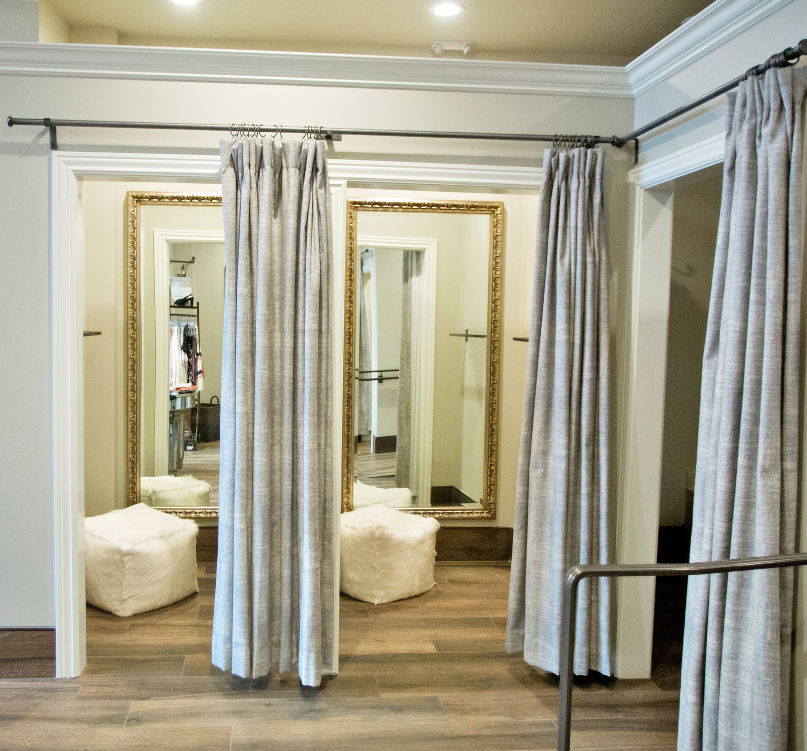 Fitting rooms at BellaJames Women's Boutique