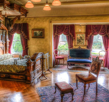 Sarah Winchester's Main Bedroom inside the Winchester Mystery House