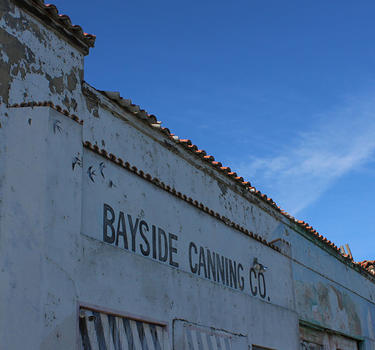 The historic Bayside Canning Company buidling
