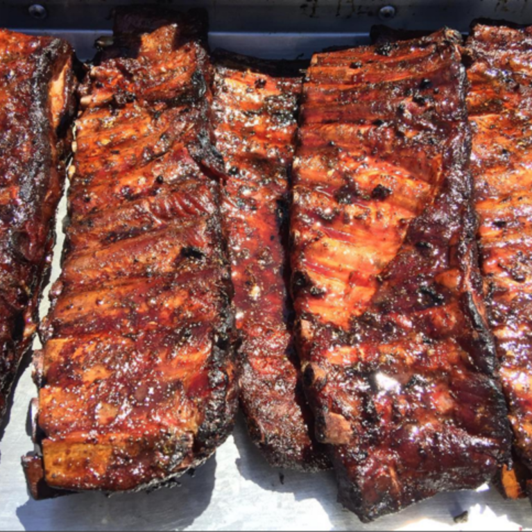 Slabs of BBQ ribs