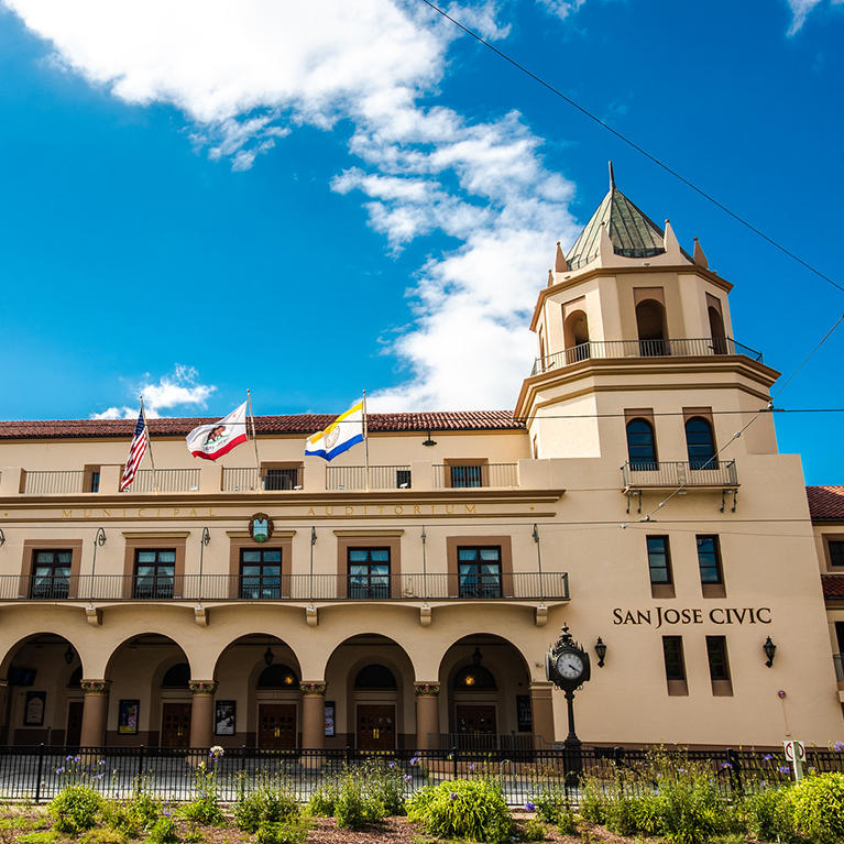 The historic San Jose Civic in Downtown San Jose