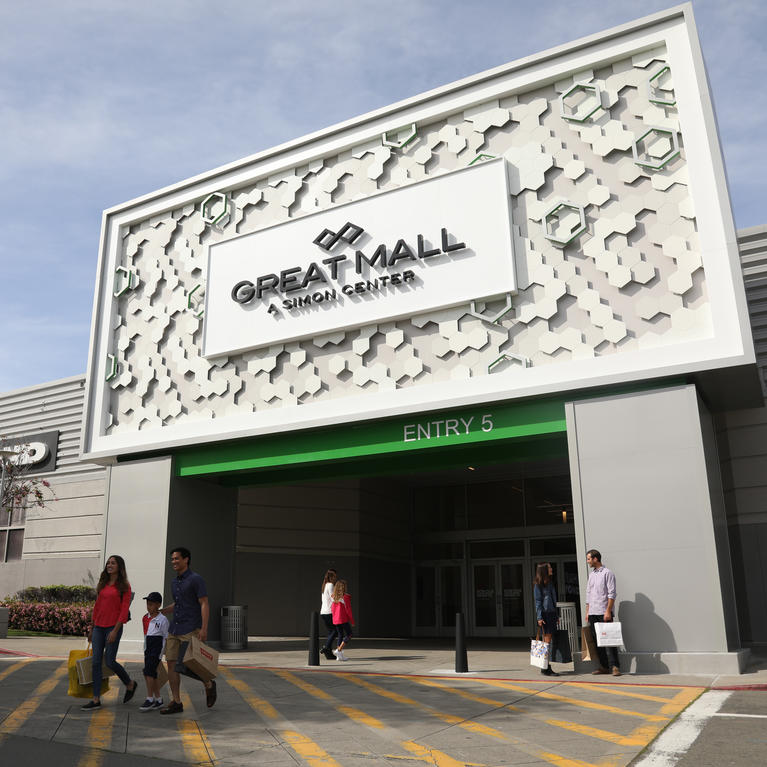 The front of the Great Mall in Milpitas, California
